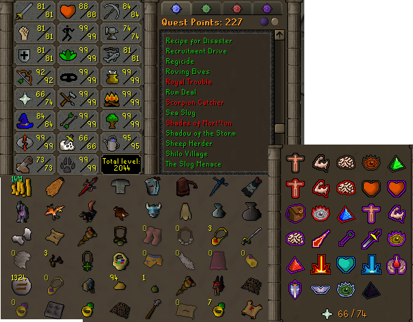 OSRS account combat level 104 ID#20190819LW104