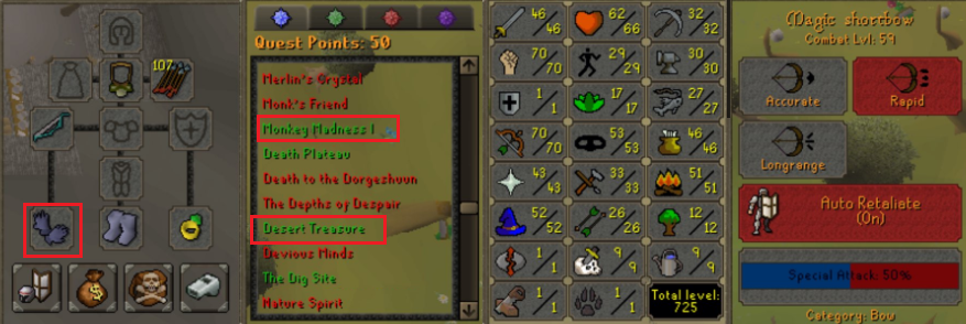 Pure osrs accounts with quests done