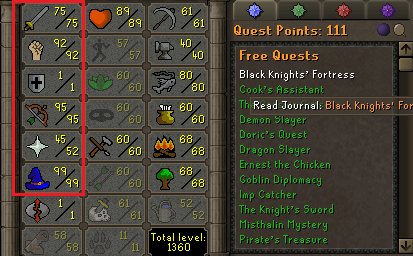 OSRS account combat level 83 ID#20191009LW83
