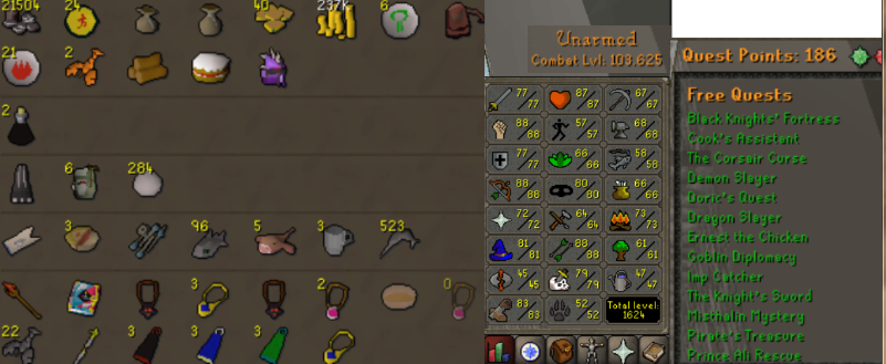 OSRS account combat level 103 ID#20180814LW103
