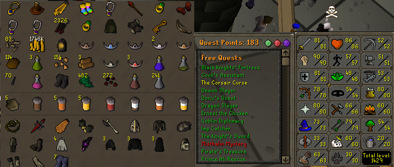 OSRS account combat level 107 ID# 20190315LW107