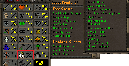 OSRS account combat level 105 ID#20190831LW105