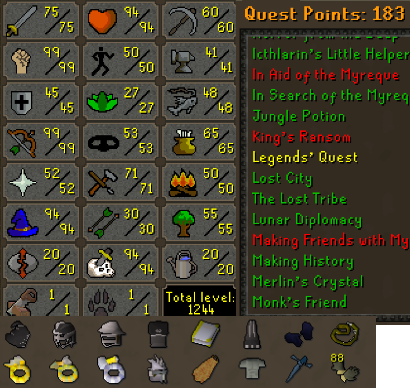 OSRS account combat level 97 ID#20201207SB97