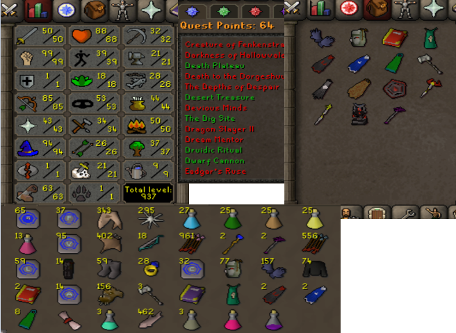 OSRS account combat level 75 ID#20201008SB75