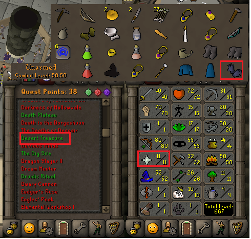 OSRS account special pure combat level 58 ID#20190106CKJ58