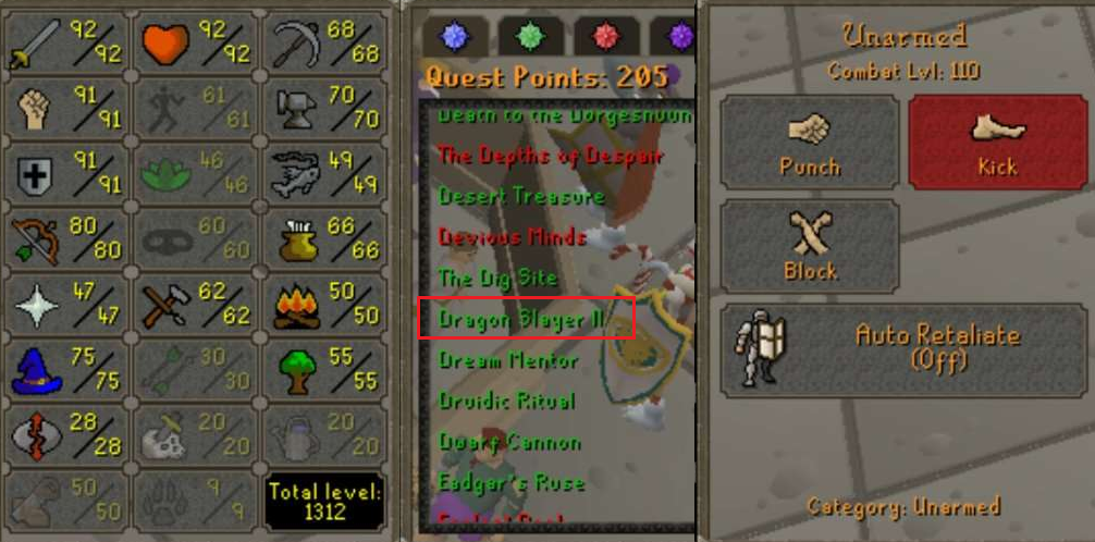 OSRS account Combat Level 110 ID#20201231TD110B