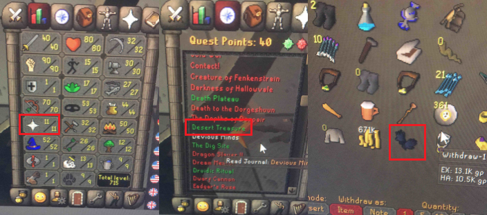 OSRS account special pure combat level 63 ID#20181111TD63