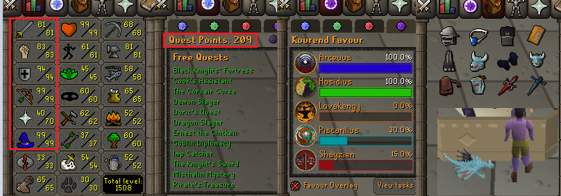 OSRS account Combat Level 110 ID#20201026MM110