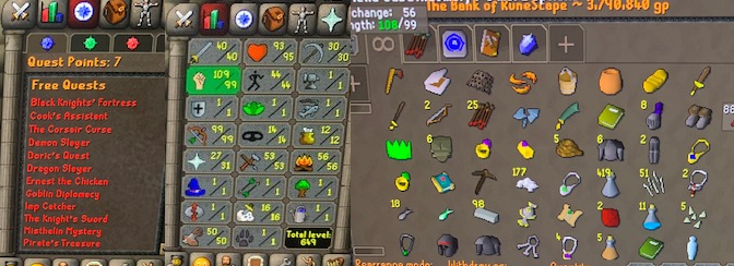 OSRS account combat level 75 ID#20200219SB75