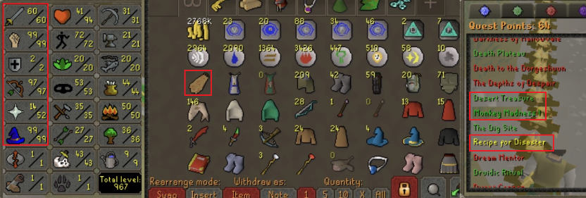 OSRS account combat level 82 ID#20190612SB82