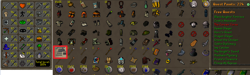 OSRS Ironman Account Combat 116 ID# 20190109LW116