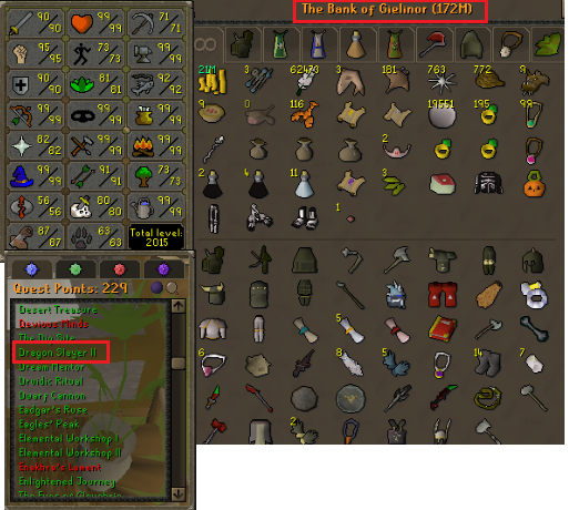 OSRS account combat level 117 ID#20201117LWSB117