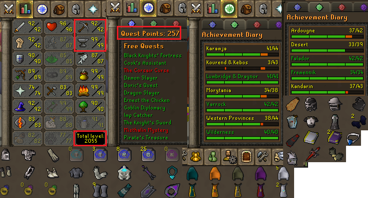 OSRS account combat level 115 ID#20190701LWSB115