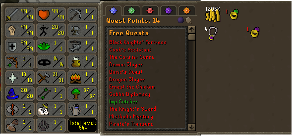 OSRS account combat level 115 ID# TD999999SB115
