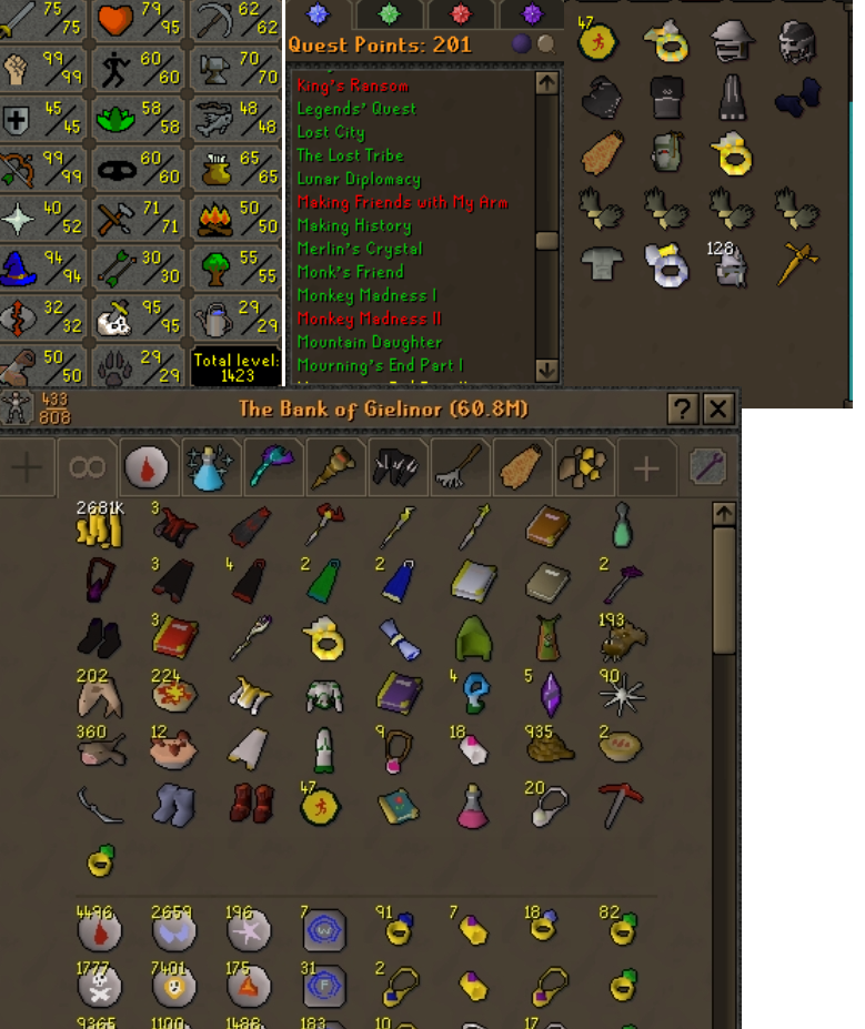 OSRS account combat level 97 ID#20201207SB98