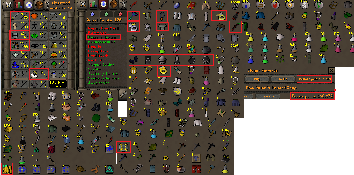 OSRS account combat level 93 ID#20200806SKY93