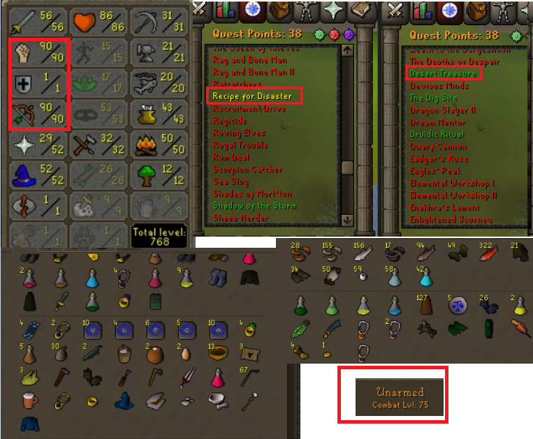 OSRS account special pure combat level 75 ID#20190722SB75