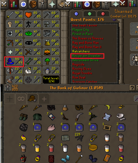 OSRS account combat level 101 ID#20200629GG101