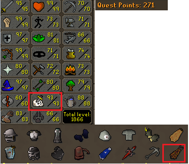 OSRS account combat level 122 ID#20191109LW122