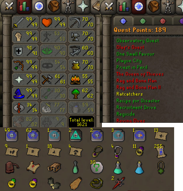 OSRS account combat level 124 ID#20190909LW124