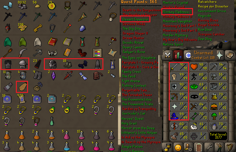 OSRS account combat level 118 ID#20190808SB118