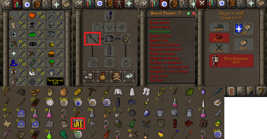 OSRS obby mauler account combat level 47 ID#20181230CKJ47