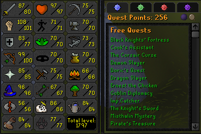 OSRS account combat level 112 ID# 20201024LW112