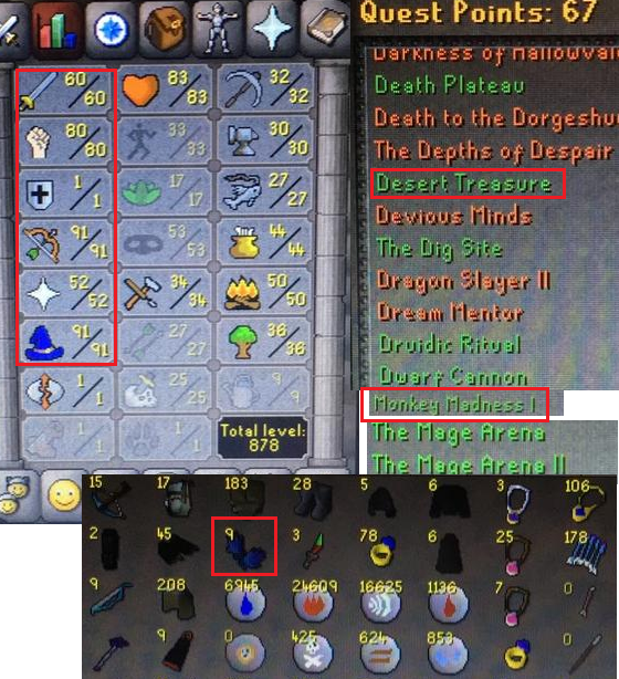 OSRS account combat level 73 ID#20200619SB73
