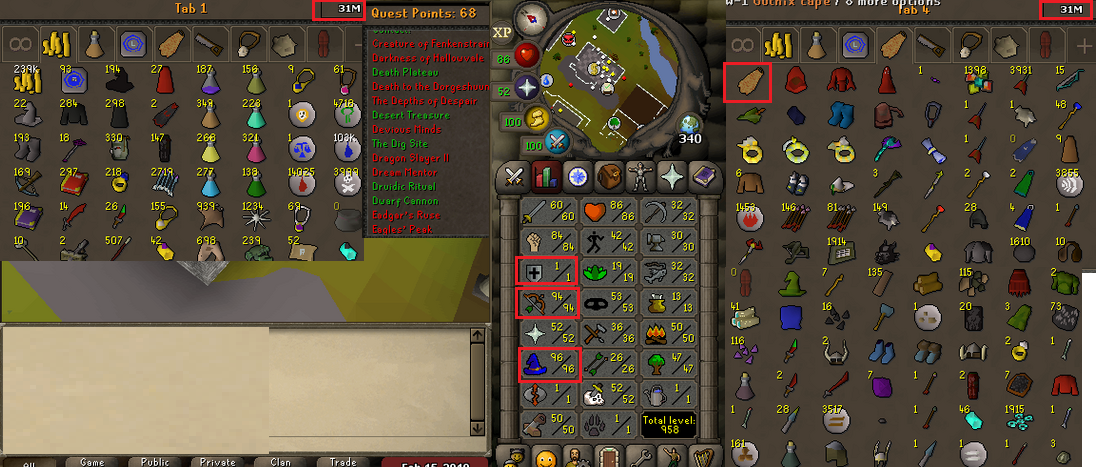 OSRS account combat level 75 ID#20190218LW75