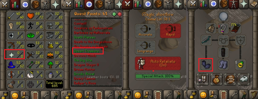 OSRS account special pure combat level 58 ID#20181226CKJ58D