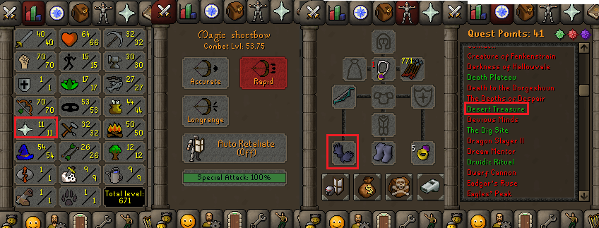 OSRS account special pure combat level 53 ID#20190227CKJ53