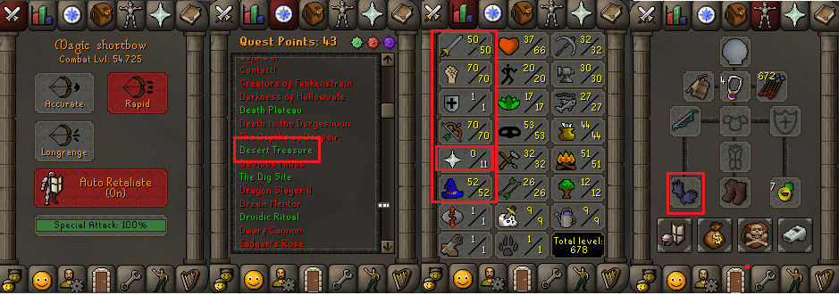 OSRS account special pure combat level 56 ID#20181122CKJ56