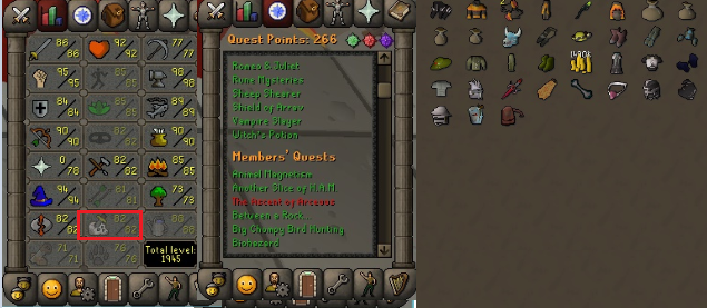 OSRS account combat level 112 ID# 20190112LW112
