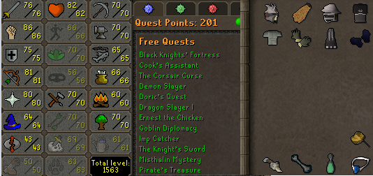 OSRS account combat level 101 ID#20201210LW101