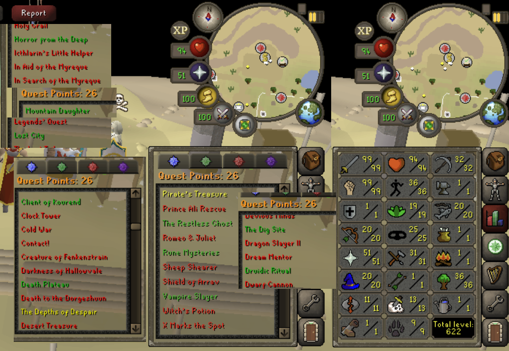 OSRS account combat level 94 ID#20190505SB94