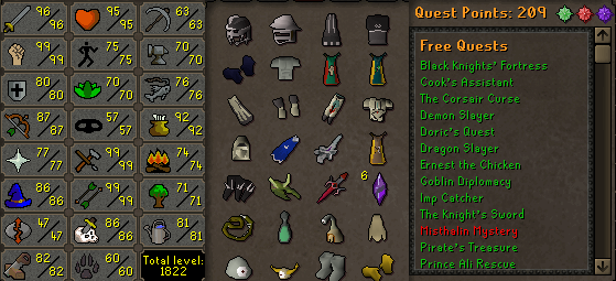 OSRS Account Combat Level 116 ID#20180629LW116
