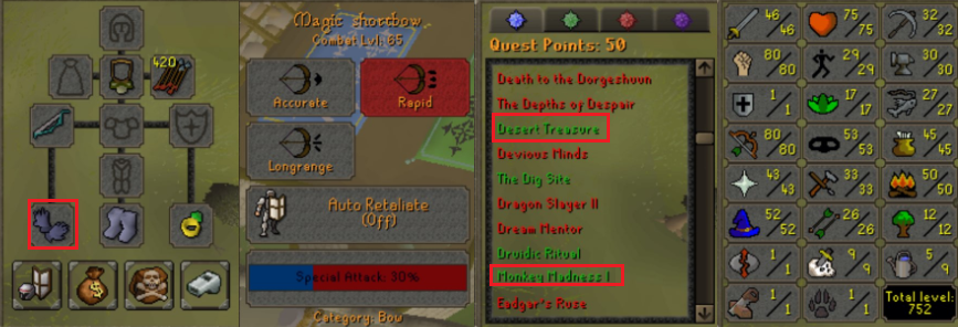 OSRS account special pure combat level 65 ID# 20190808CKJ65