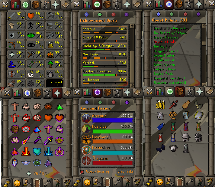 OSRS account combat level 123 ID#20191108LW123