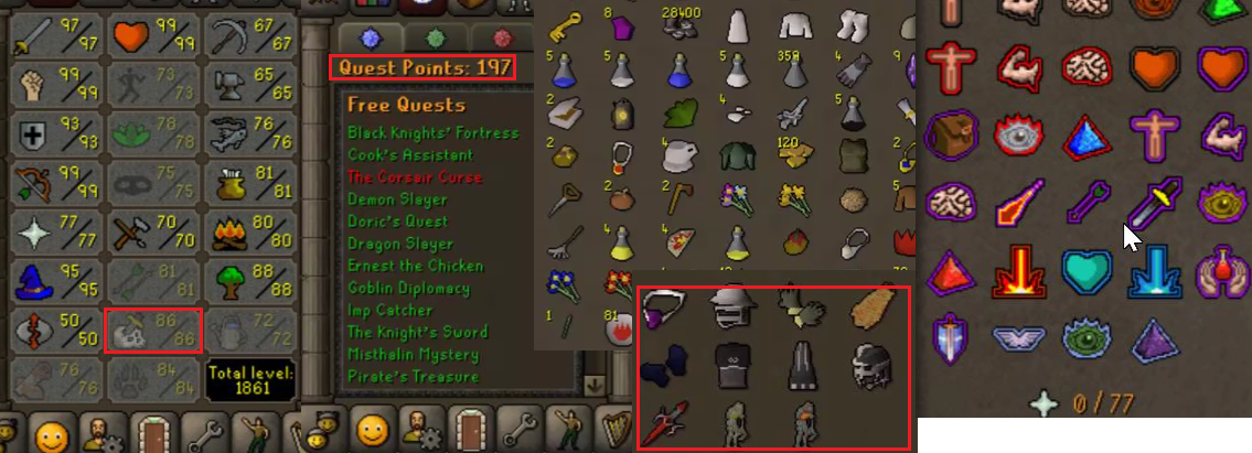 OSRS account combat level 121 ID#20190709LW121