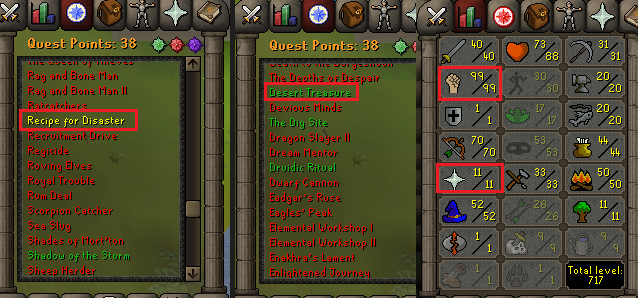 OSRS account special pure combat level 68 ID#20190316TD68A