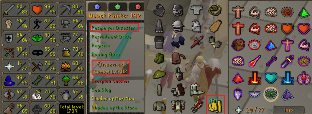 OSRS account combat level 112 ID#20200112LW112