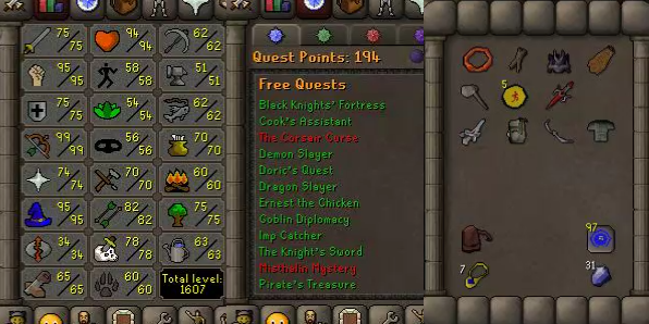 OSRS account combat level 106 ID# 20190523LW106