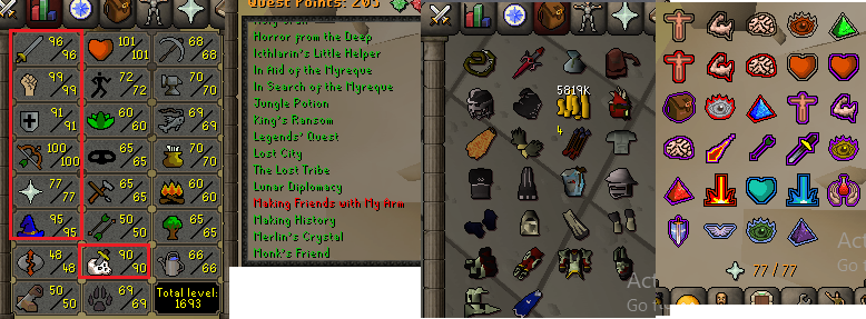 OSRS account combat level 120 ID# 20190112LW120