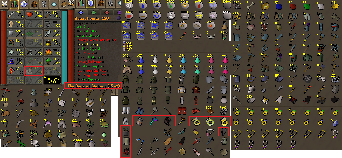 OSRS account combat level 117 ID#20190904LW117