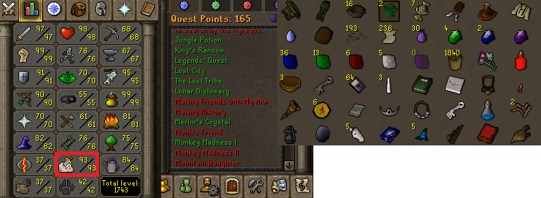 OSRS account combat level 119 #20200325LW119