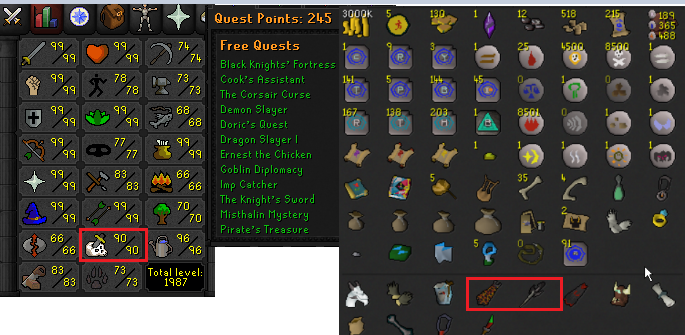 OSRS account combat level 126 ID# 20201125LW126