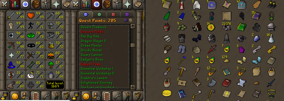OSRS account combat level 122 ID#20190529LW122