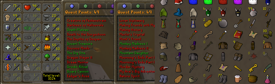 OSRS account combat level 87 ID# 20190617LW87