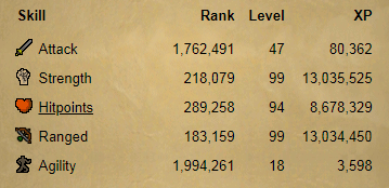 OSRS account combat level 71 ID#20191115TD71A