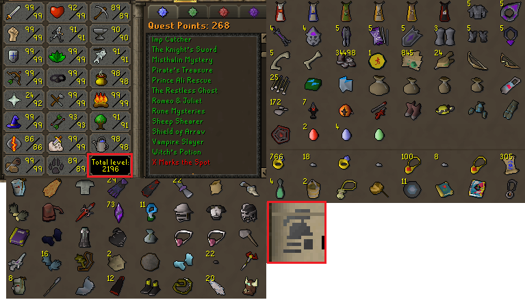 OSRS ironman account combat level 125 ID#20190324LW125